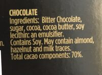 Intense Dark Chocolate - 70% cacao - Ingrediënten - en