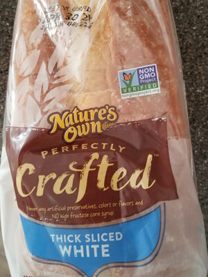 nature's own perfectly crafted thick sliced white - Product