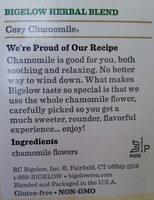 Cozy Chamomile herbal tea - Ingredients - en