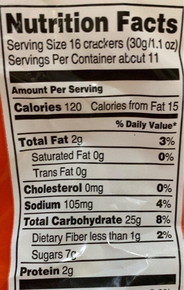 Animal crackers original - Nutrition facts
