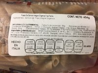Delallo Organic Penne Rigate Made - Nutrition facts