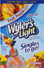 Light singles water drink mix to go powder packets - Produto