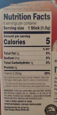 Low calorie drink mix - Nutrition facts - en