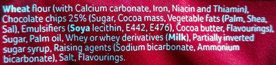 Cookies choco chip - Ingredients - en