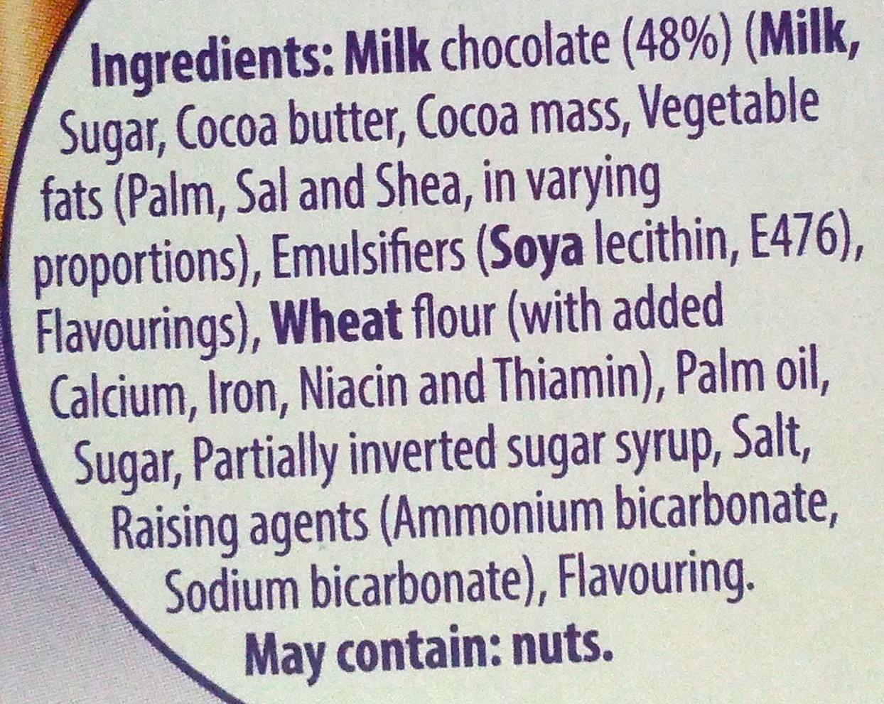 Cadbury Fingers Milk Chocolate Biscuits - Ingredients - en