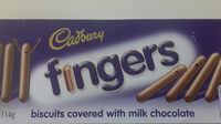 Cadburry Fingers Biscuits Covered With Milk Chocolate - Produit