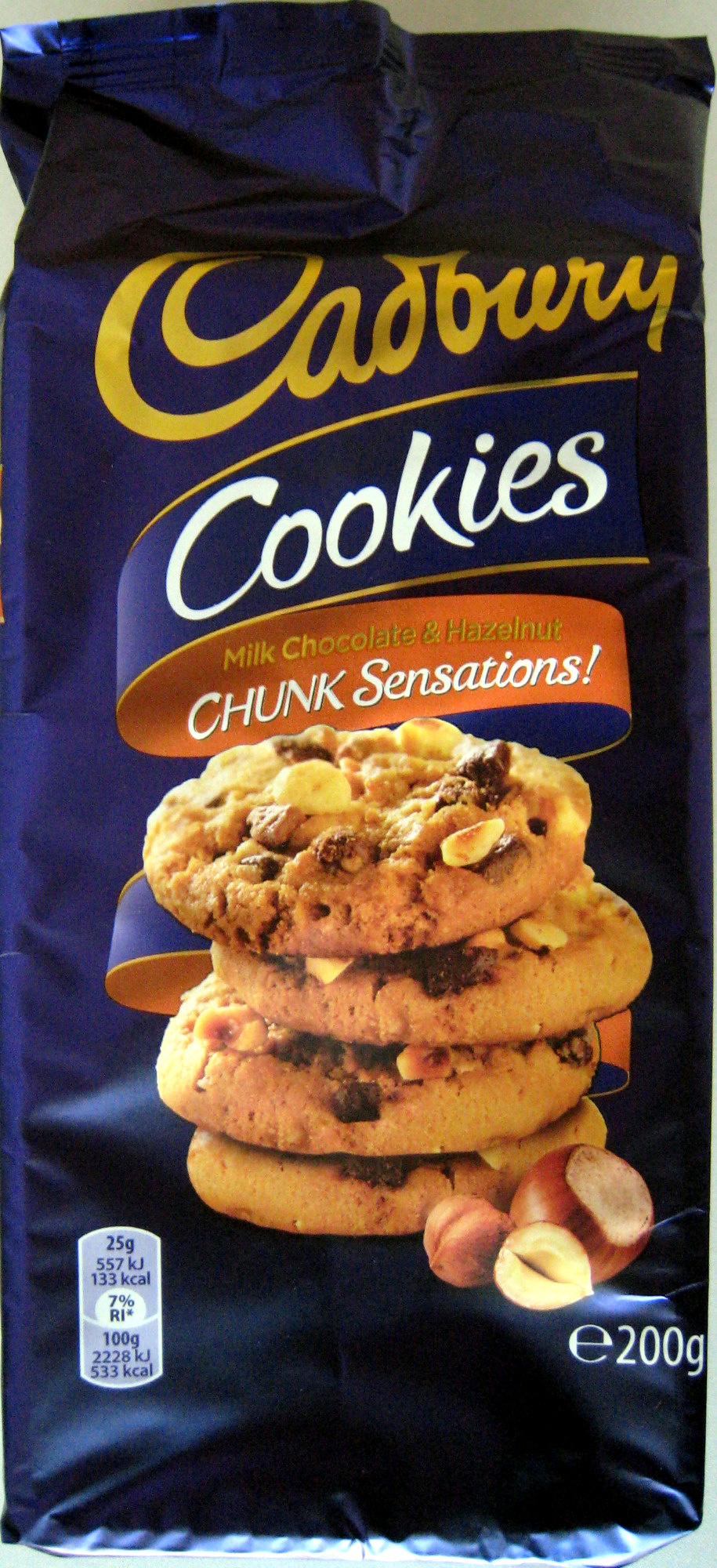 Cookies Milk & Hazelnut Chunk Sensations - Produit - fr