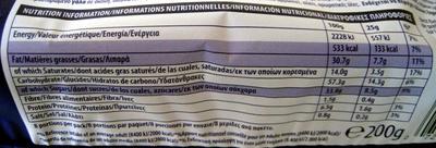 Cookies Milk & Hazelnut Chunk Sensations - Informations nutritionnelles - fr