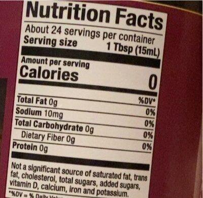 Flavored coffee creamer - Valori nutrizionali - en