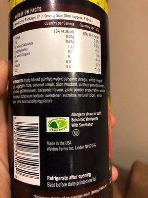 Balsamic Vinaigrette - Ingredients - en