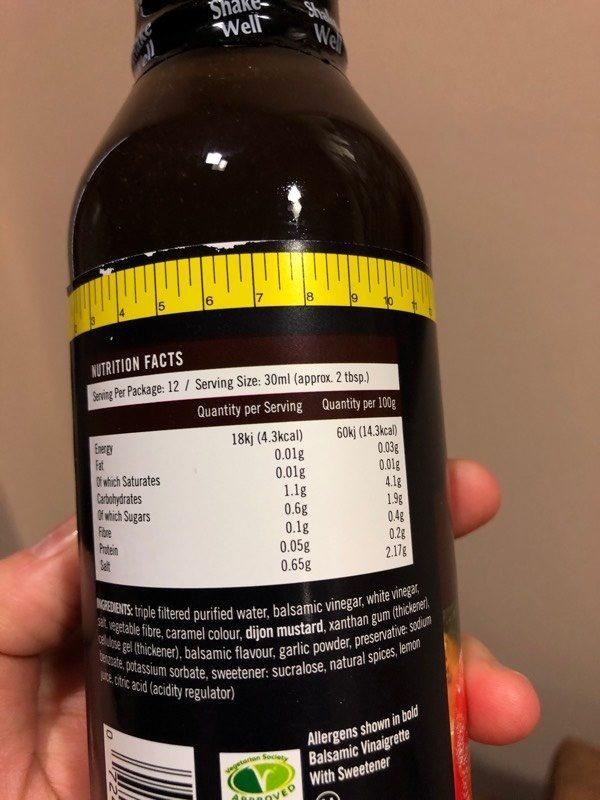 Balsamic Vinaigrette - Nutrition facts - en