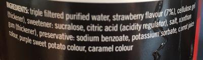 Syrup - Ingrédients