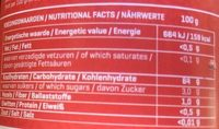 Strawberry fruit spread - Nutrition facts - en