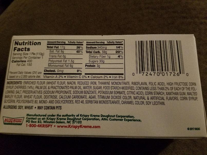 Glazed cherry pie - Ingredients - en