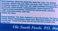 ole south - Ingredients - en