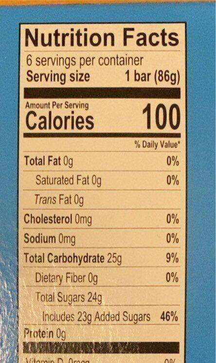 Whole fruit watermelon fruit bars - Nutrition facts - en