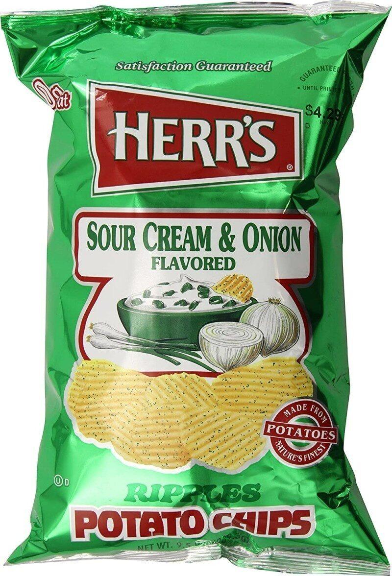 Sour cream and onion potato chips - Prodotto - en