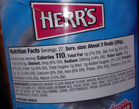 pretzel rods - Nutrition facts
