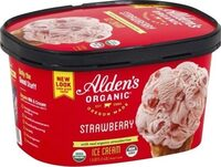 Alden's organic strawberry ice cream - Product - en