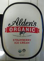 Alden's, Organic Ice Cream, Strawberry - Product - en