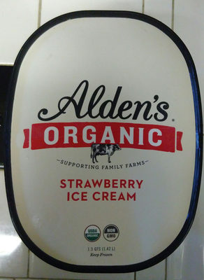 Strawberry ice cream, strawberry - Product