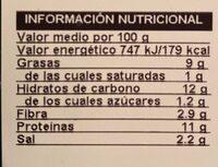 Nuggets Veganos - Voedingswaarden - fr