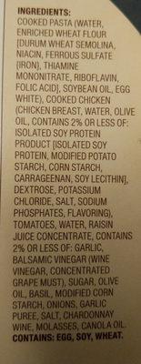 HEALTHY CHOICE Cafe Steamers Chicken Margherita, 9.5 OZ - Ingredients - en
