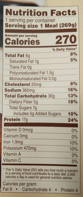 Cafe Steamers - Chicken Margherita with Balsamic - Nutrition facts