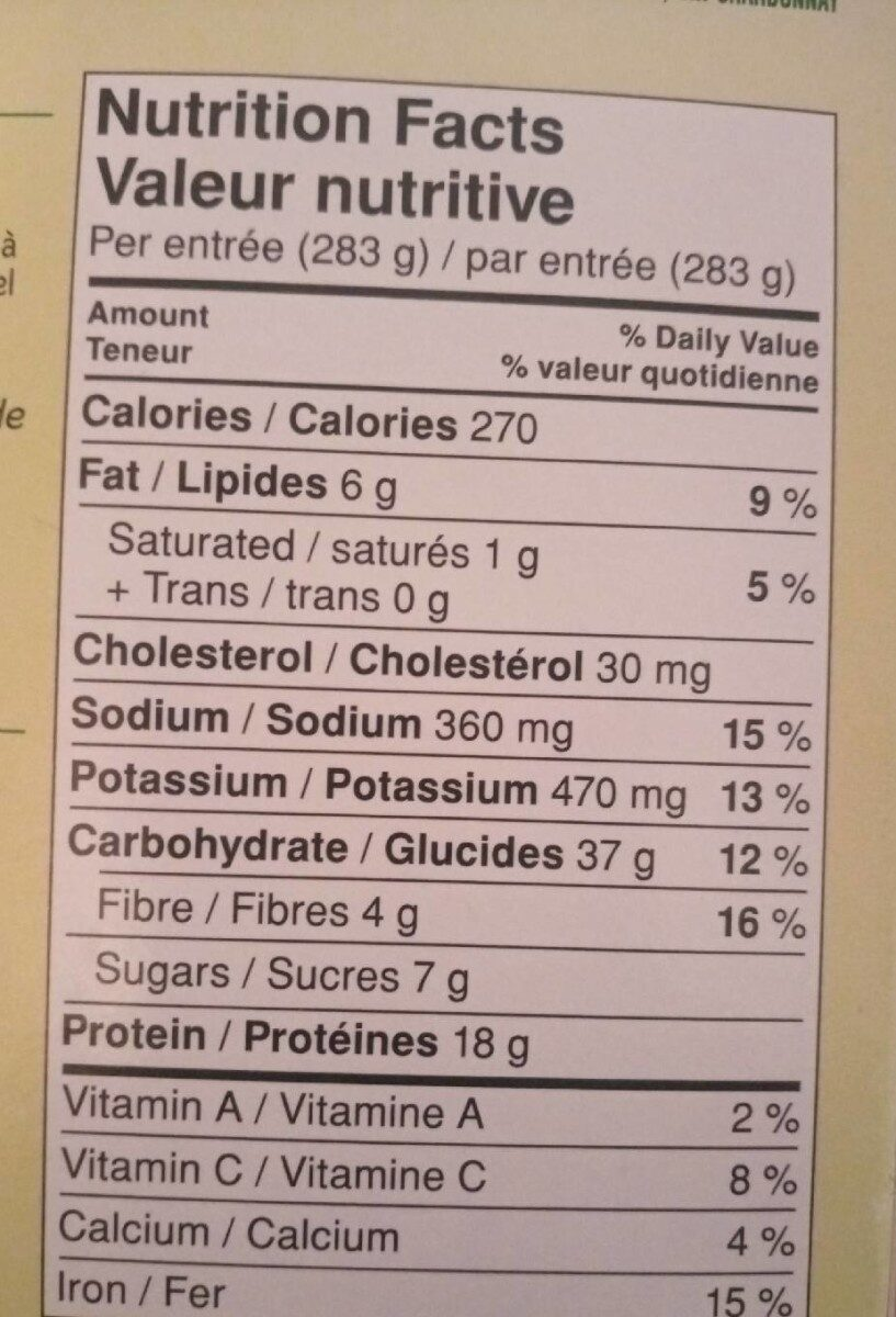 Healthy - Informations nutritionnelles - fr