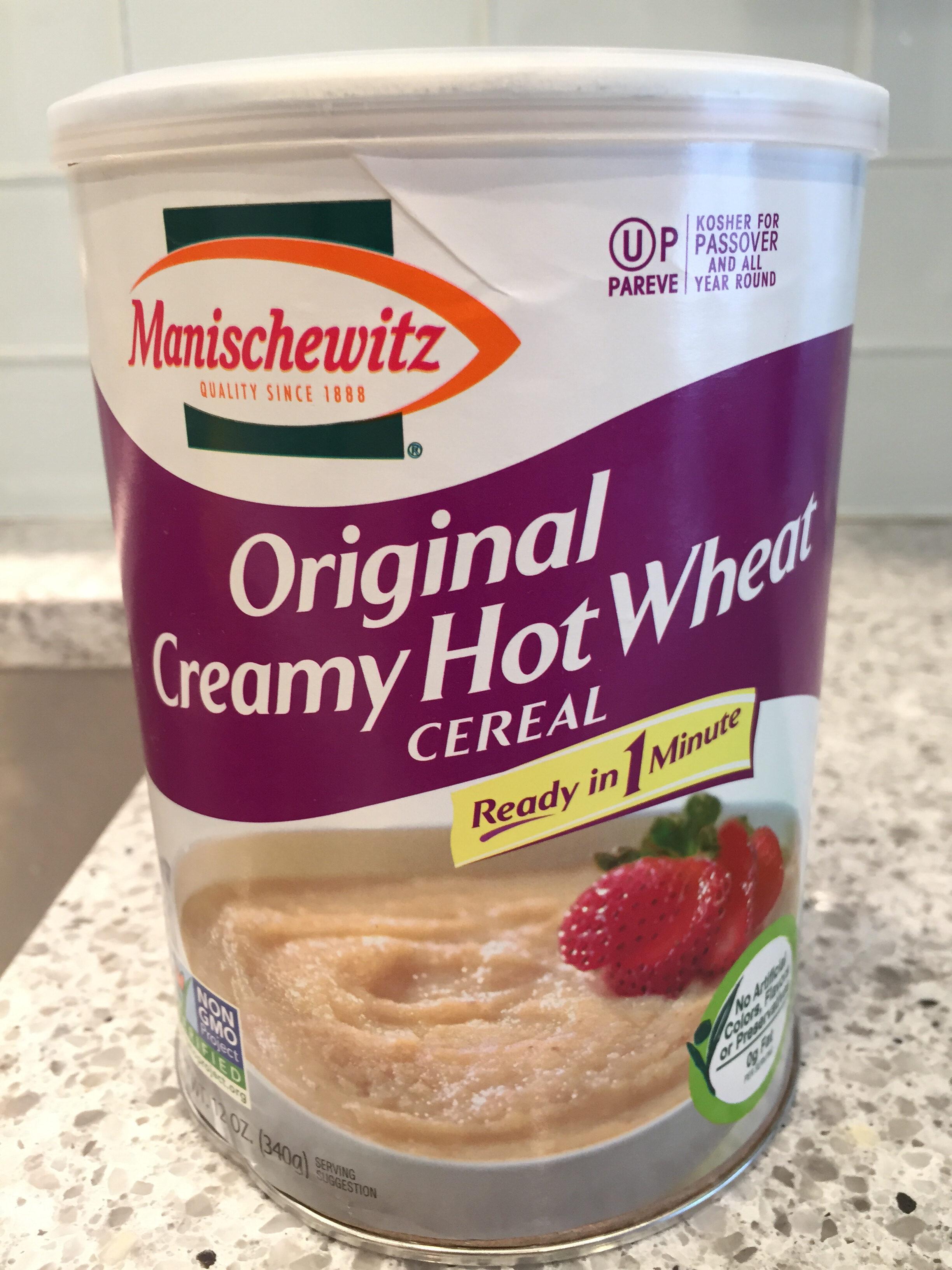 Original creamy hot wheat cereal - Product - en
