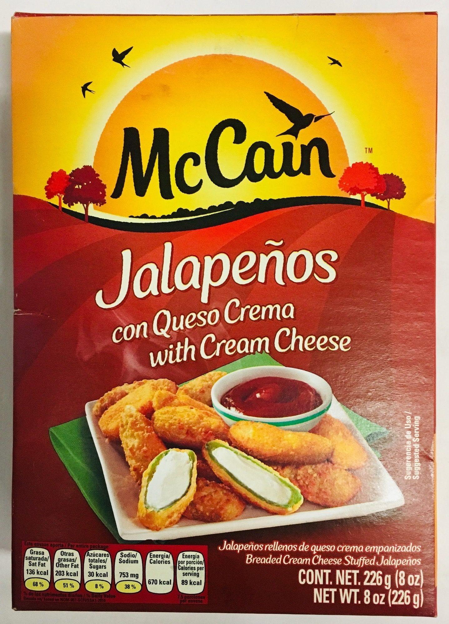 Jalapeños con queso crema, Mc Cain - Product - es