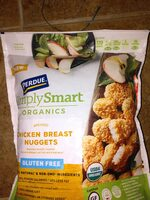 Gluten free breaded nugget shaped chicken breast patties with rib meat, chicken - Ingredients - en