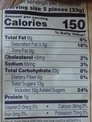 Cocoa crème soft caramels - Nutrition facts
