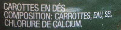 Diced carrots - Ingrédients - fr