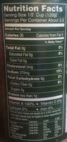 Diced carrots - Informations nutritionnelles - en
