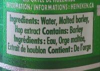 Biere - Ingredients - en