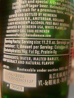 Heineken Zero - Nutrition facts - en