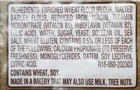 The original bakery bread - Ingredients - en