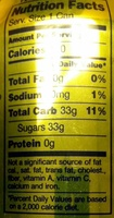 Seagram's Tonic Water - Nutrition facts