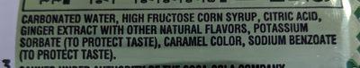 Seagram's Ginger Ale - Ingredients