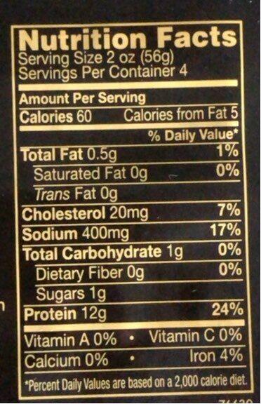 Maple turkey breast - Informations nutritionnelles - en