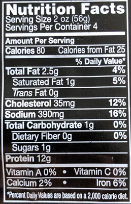 Pastrami naturally smoked coated with spices and caramel color - Nutrition facts