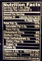 Italian Dry Salame - Nutrition facts