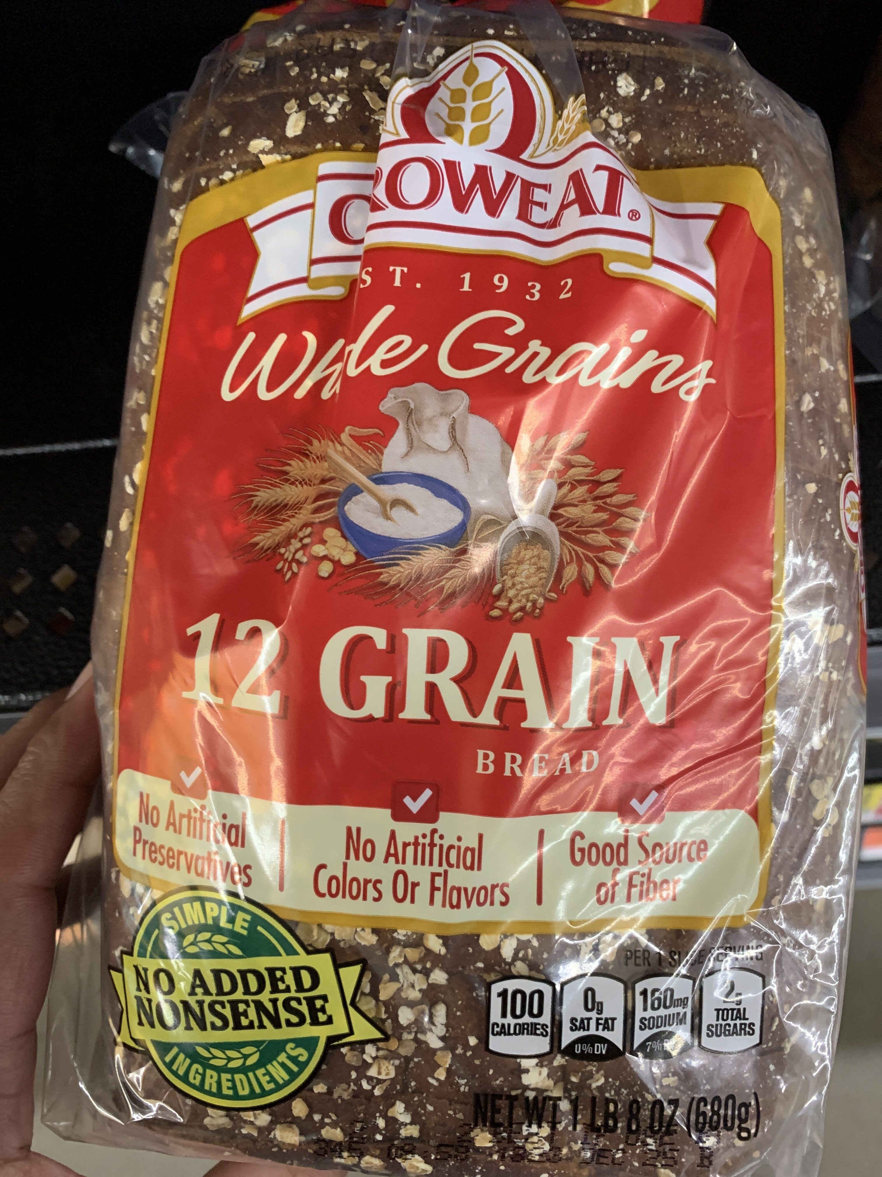 12 grain bread, 12 grain - Produit - en