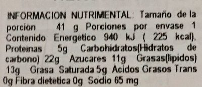 Poky - Nutrition facts
