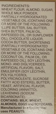 Pocky Almond Crush - Ingredients