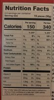 Glico, pocky, chocolate cream covered biscuit sticks - Nutrition facts - en