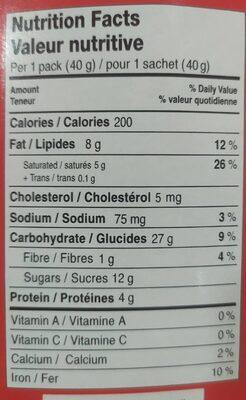 Pocky, Bâtons Biscuits, Enrobé De Chocolat, 40g - Informations nutritionnelles - fr