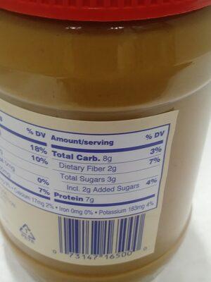 Creamy Peanut Butter - Informazioni nutrizionali - en