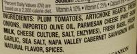 Tomato Basil Sauce - Ingredients